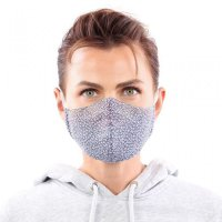 YOU`RE PROTECTED Community Thai Maske 2-Lagig unisex Pattern Blue-White C
