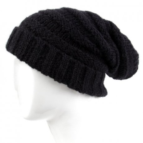 BLAUER USA Damen Strickmütze Long Beanie Black BLD0418