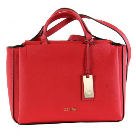 CALVIN KLEIN Damen Tasche CARRI Duffle Medium Bag  Red...