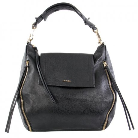 CALVIN KLEIN Damen Tasche IZZY Satchel Big Bag Black Zip...