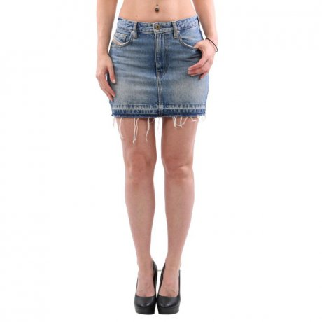 DIESEL Damen Jeans Rock DE-FREESIA Denim Blue 00SPFQ...