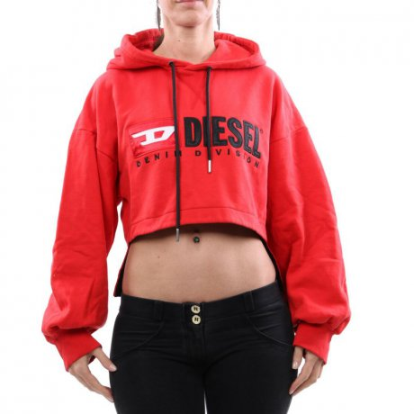 DIESEL Damen Kapuzen Sweat Shirt Pullover F-DINIE-A Red...