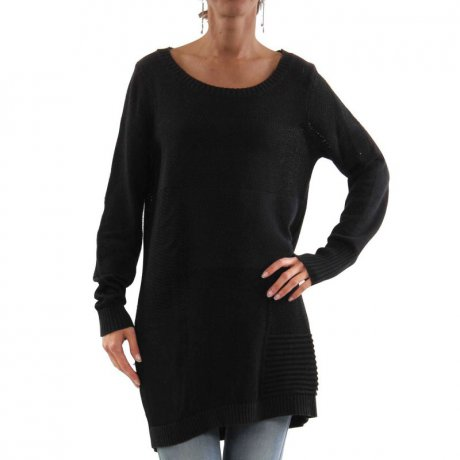 DIESEL Damen Strick Long Shirt Pullover M-QUADRA Black...
