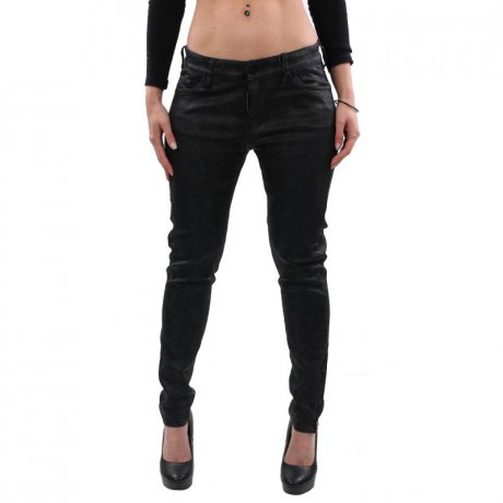 DIESEL Damen Super Skinny Jeans Hose SLANDY-ZIP Dark Blue...
