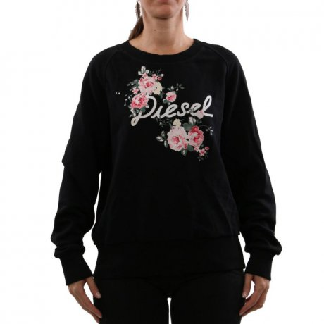 DIESEL Damen Sweat Shirt Pullover F-SVEN-FLOWER Black...