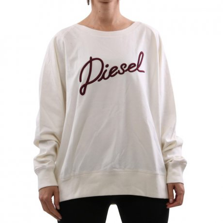 DIESEL Damen Sweat Shirt Pullover F-SVEN-SHORT White...