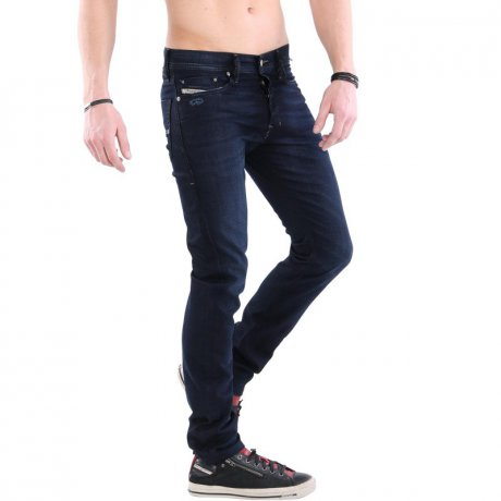 DIESEL Herren Stretch Jeans Hose TEPPHAR Dark Blue 084TH...