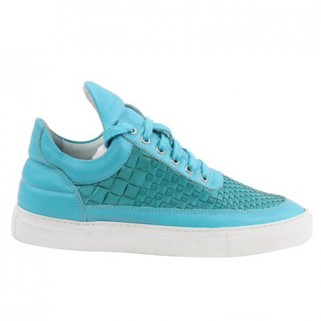 FILLING PIECES Damen LOW TOP Sneaker Leder Schuhe Türkis...