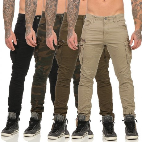 JACK & JONES Herren Cargo Hose PAUL CHOP in 4 Farben