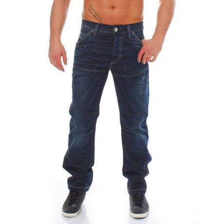 JACK & JONES Herren Jeans Hose JAMES NOA DECOR 1 Blue 2....