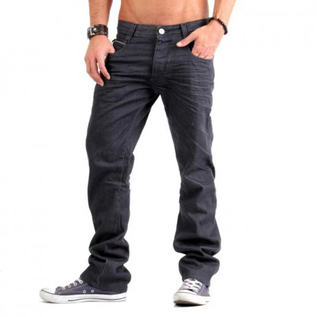 JACK & JONES Herren Jeans Hose Rick Four Piping Grey...