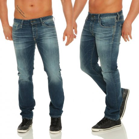 JACK & JONES Herren Regular Jeans Hose CLARK ICON Blue BL721