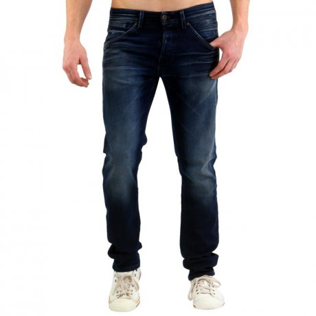 JACK & JONES Herren Slim Jogg Jeans Hose GLENN FOX Blue...