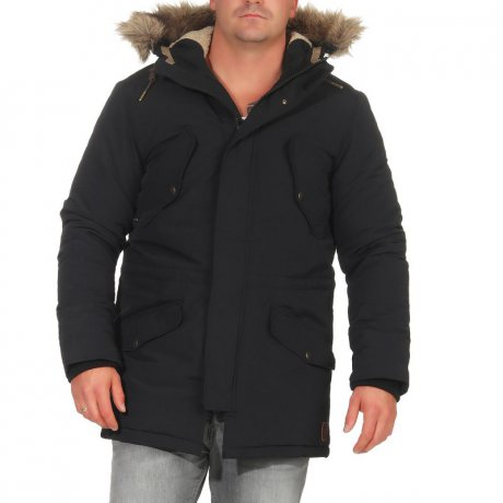JACK & JONES Herren Winter Parka Jacke ARCTIC Caviar...