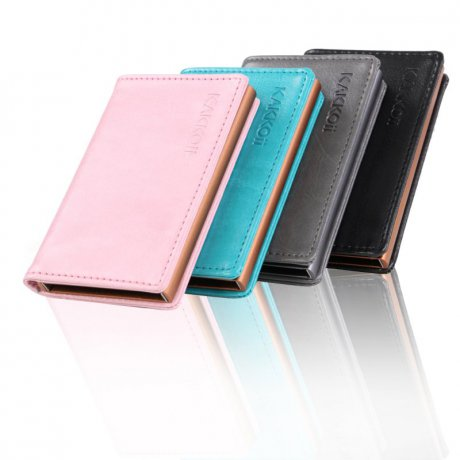 KAKKOii SMART WALLET RFID Blocking Aluminium Case Leder...