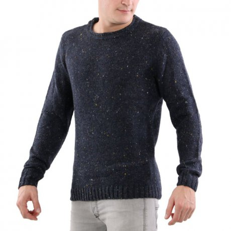 KEY LARGO Herren Rundhals Strick Pullover TRAVOLTA NAVY...