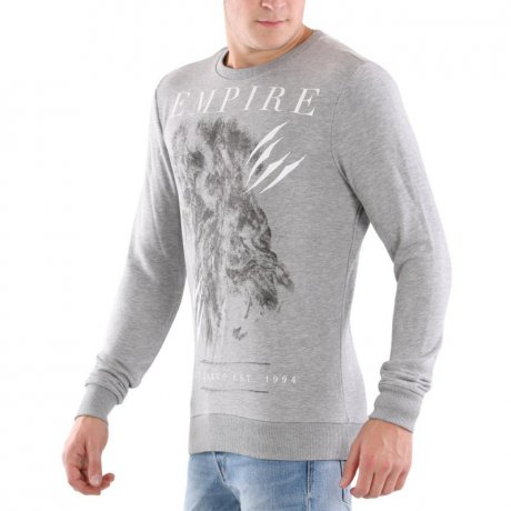KEY LARGO Herren Sweat Pullover BRITISH EMPIRE Silver...