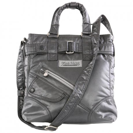 MATCHLESS Damen Handtasche SMALL NYLON Magnesium Grey 157017