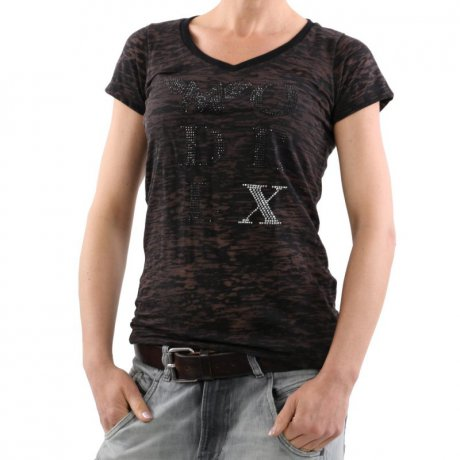 MATCHLESS Damen Kurzarm T-Shirt MODEL X Lead Grey 124074