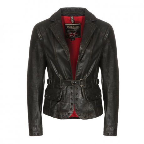 MATCHLESS Damen Leder Jacke EPPING BLAZER Antique Black...