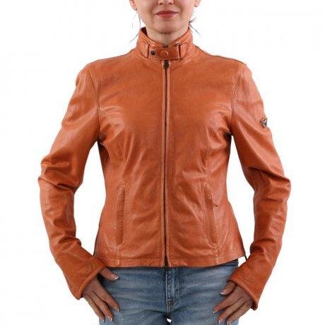 size 40 9667c 13c86 MATCHLESS Damen Leder Jacke OSBORNE BLOUSON Orange 123116