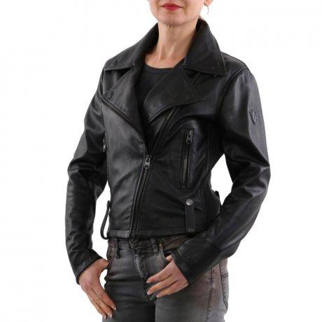 big sale 45b7d 5ba07 MATCHLESS Damen Nappa Leder Jacke REGENT BLOUSON Black 123152