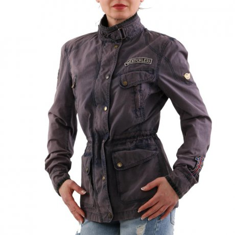 MATCHLESS Damen Sommer Wax Jacke NEW MASHAM REBEL Navy...