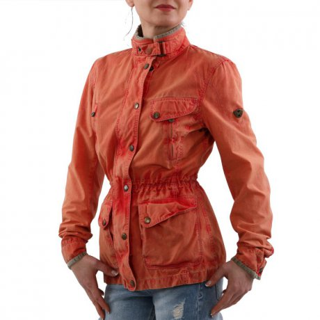 MATCHLESS Damen Sommer Wax Jacke NOTTING HILL Orange...