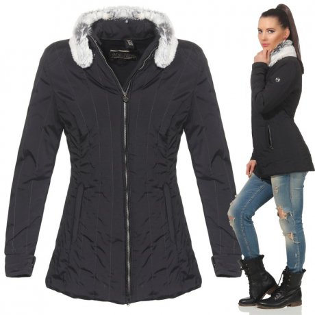MATCHLESS Damen Übergangs Jacke STIRLING Black 120027