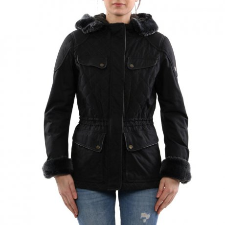 MATCHLESS Damen Übergangs Wax Jacke WINDSOR Antique Black...