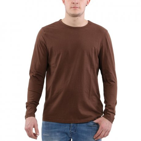 MATCHLESS Herren Langarm Shirt CONFORT T-SHIRT Brown 114052