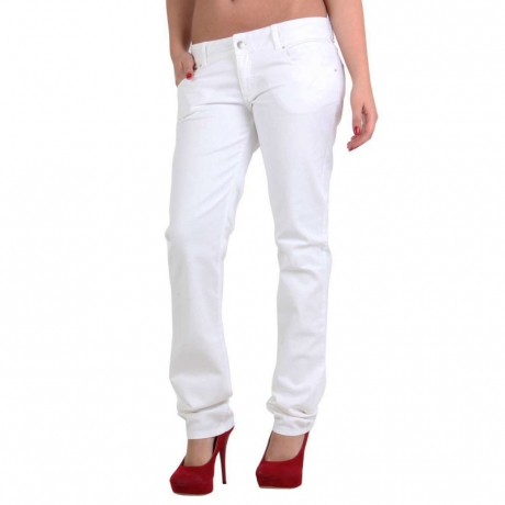 MET Damen Jeans Bull Stretch Body White E67