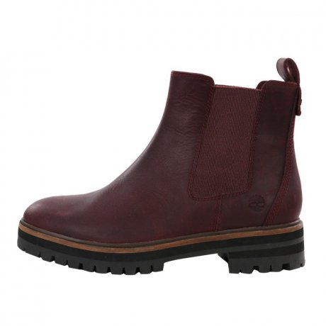 TIMBERLAND Damen Chelsea Stiefel LONDON Square Rot Größe 38