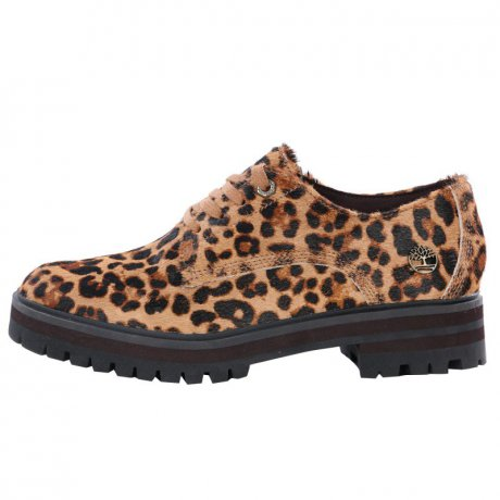 TIMBERLAND Damen Oxfordschuh LONDON Square Braun Leo...