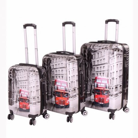 WOW Kofferset Reise Hartschalen Koffer Trolley AEC...
