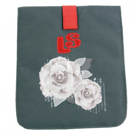WOW LYCsac Tablet Case Tasche Roses Line Dark Grey