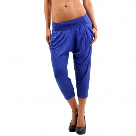 YU & ME PARIS Damen Leggings Hose Royal Blue LM28831