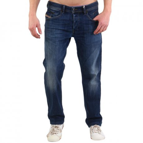 DIESEL Herren Stretch Denim Jeans Hose BELTHER Blue 0814W...