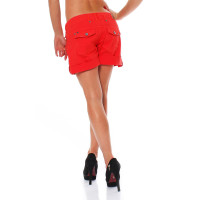FELLA & LASS Damen Shorts Pia Ladies Coral Red Größe XS