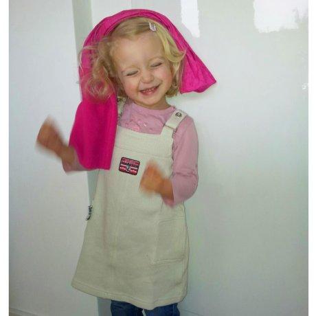 KLITZEKLEIN Kinder Mädchen Trägerkleid Maritim Natur Beige 484715 Größe 80