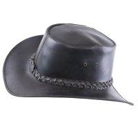 Black Forest Fox Herren Western Reiten Cowboy Glatt Leder Hut Night Brown Größe S