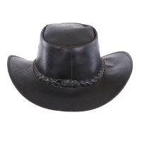Black Forest Fox Herren Western Reiten Cowboy Glatt Leder Hut in 2 Farben