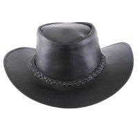 Black Forest Fox Herren Western Reiten Cowboy Glatt Leder Hut Größe XL Night Brown