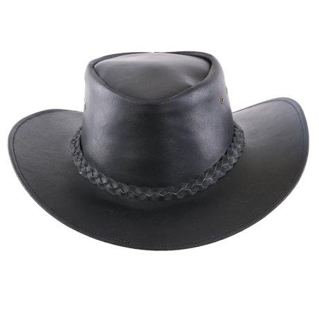 Black Forest Fox Herren Western Reiten Cowboy Glatt Leder Hut Größe XXL Deep Black