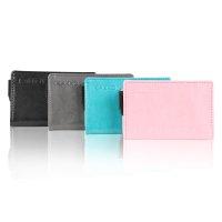 KAKKOii SMART WALLET RFID Blocking Aluminium Case Leder Geldbörse Pink & Copper