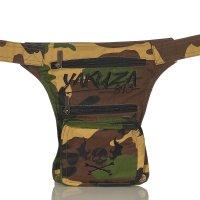 YAKUZA Damen Herren Unisex 3 in 1 Gürtel Bauch Bein Crossover Tasche in 4 Farben