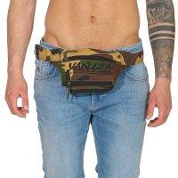 YAKUZA Damen Herren Unisex 3 in 1 Gürtel Bauch Bein Crossover Tasche Camouflage Green