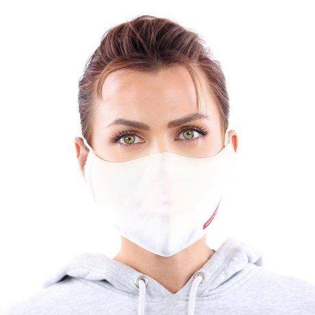 YOU`RE PROTECTED Community Nano Maske 3-Lagig unisex White 2 Stück