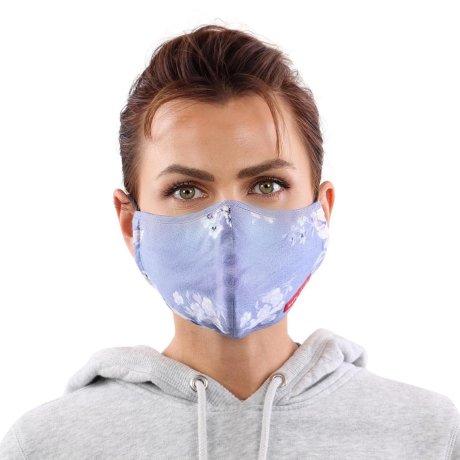 YOU`RE PROTECTED Community Nano Maske 3-Lagig unisex Blue 2 Stück