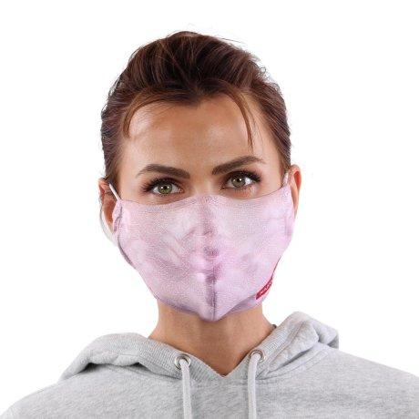YOU`RE PROTECTED Community Nano Maske 3-Lagig unisex Rose 2 Stück